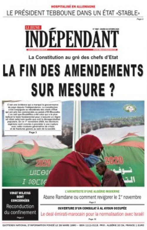 Le Jeune Indépendant  (31 Octobre 2020)