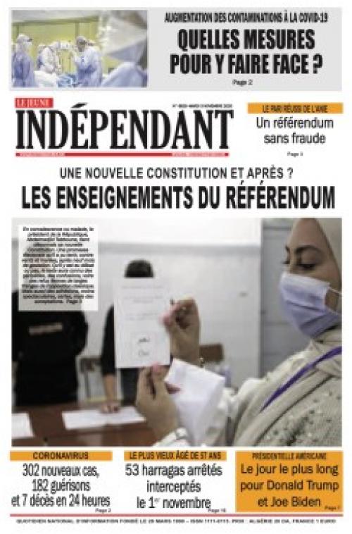 Le jeune Indépendant (03 Novembre 2020)