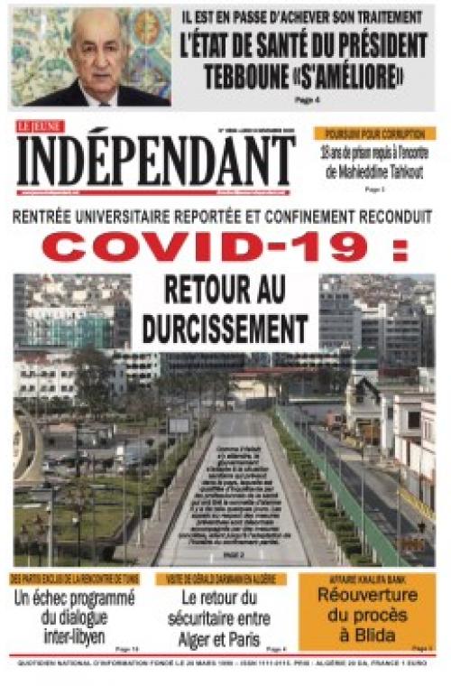 Le jeune indépendant (9 Novembre 2020)
